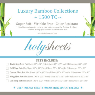holysheets luxury bamboo 1500 collection