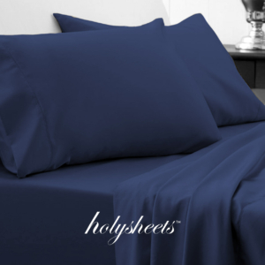 Navy HolySheets Set – Luxury Bamboo Collection