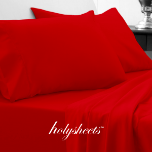 Red HolySheets Set – Luxury Bamboo Collection