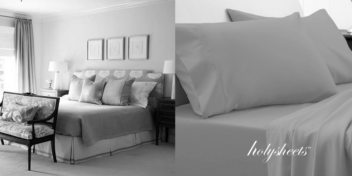 decorate your bedroom with the light grey holysheets set 1500 collection