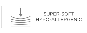 Super-soft hypo-allergenic